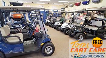 Free Total Cart Care with purchase of new 2016 Yamaha at Coastal Carts