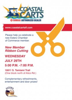 Coastal Carts Ribbon Cutting with Estero Chamber of Commerce
