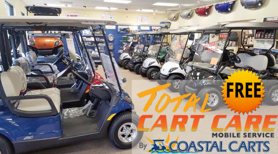 Coastal Carts Specials - 6 Months Free Total Cart Care