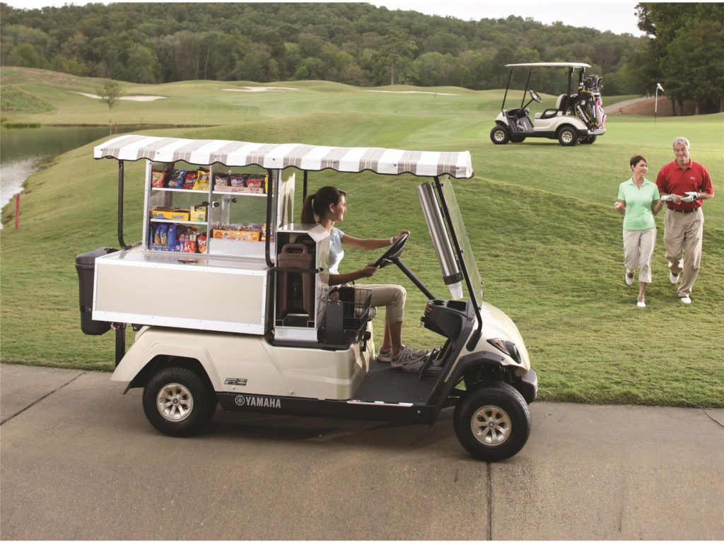 Fairway Lounge food service vehcile by Yamaha available at Coastal Carts