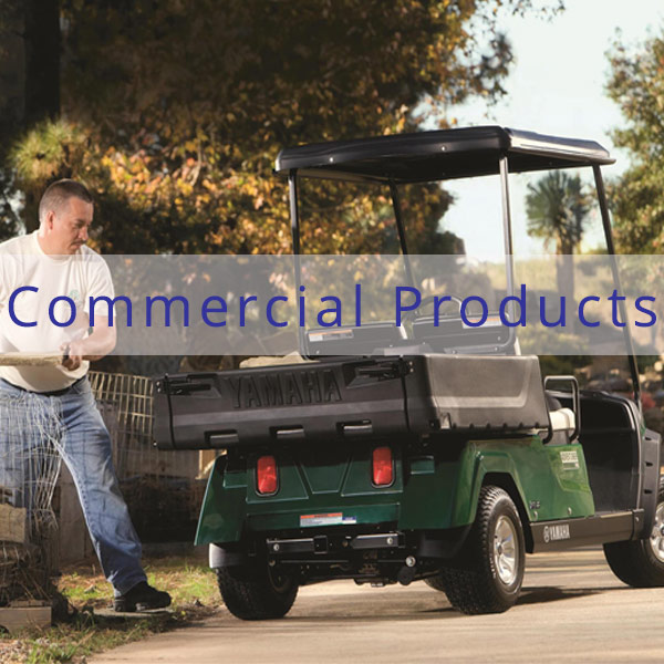 Coastal Carts Commercial Products including Golf Carts by Yamaha and Tomberlin, People Movers, and Yamaha Power Equipment